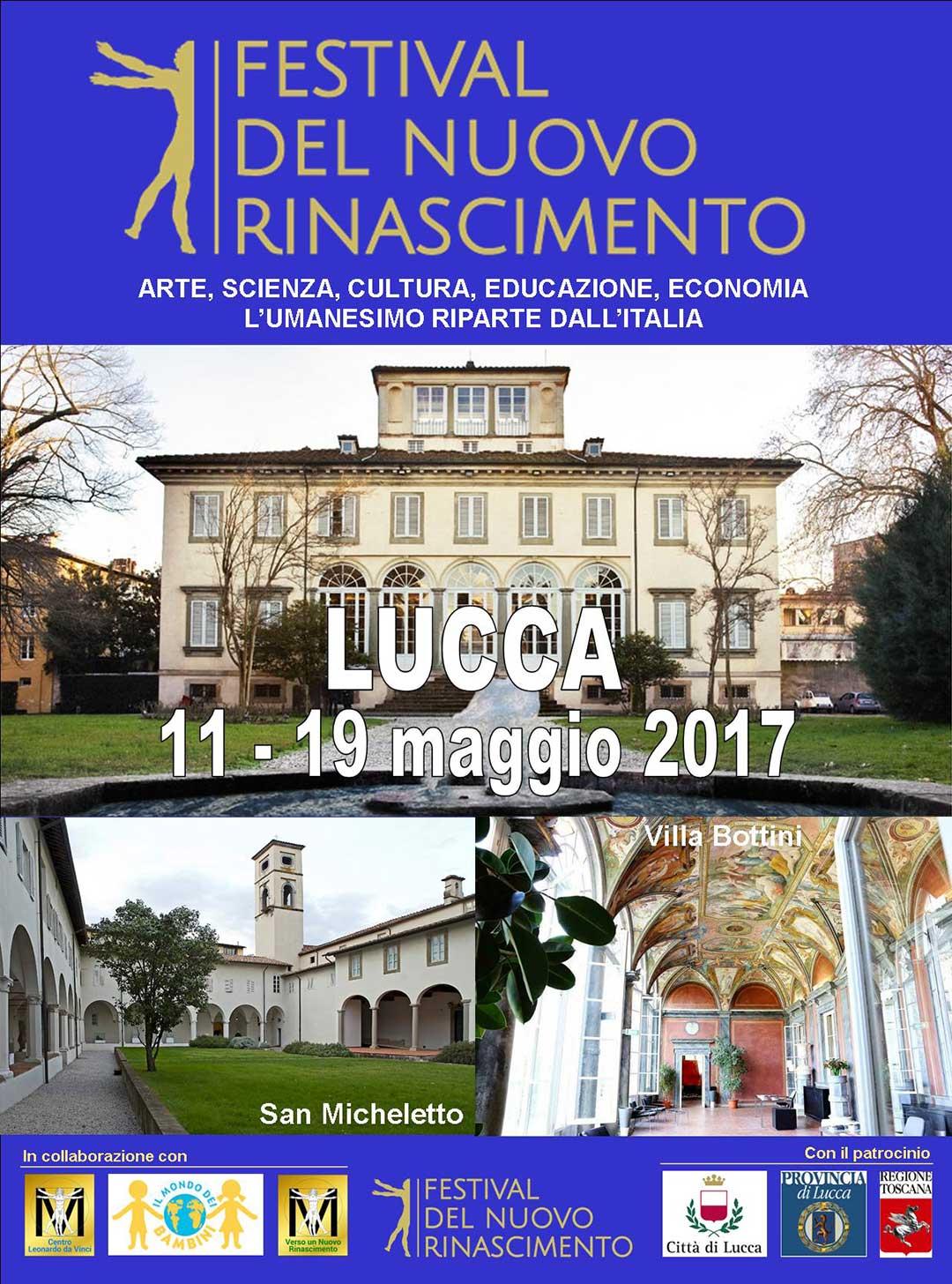 locandina Festival del Nuovo Rinascimento 2017