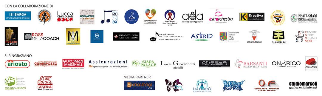 Collaborazioni, Ringraziamenti e Partner Festival del Nuovo Rinascimento - Lucca 2018